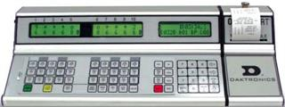 daktronic case All sport® 5500 control console: control console electronics are housed in a rugged aluminum case console has a 32-character liquid crystal prompting.